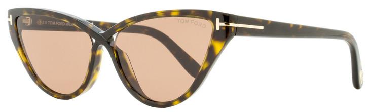 Tom Ford Cateye Sunglasses TF740 Charlie-02 52E Dark Havana 56mm FT0740
