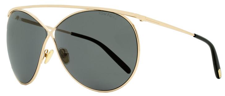 Tom Ford Criss Cross Sunglasses TF761 Stevie 28A Gold/Black 67mm FT0761