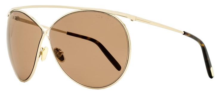 Tom Ford Criss Cross Sunglasses TF761 Stevie 28Y Gold/Havana 67mm FT0761
