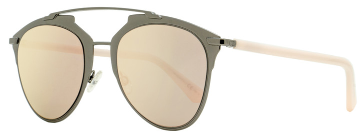 Dior Brow Bar Sunglasses Reflected XY20J Dark Ruthenium/Pink 52mm