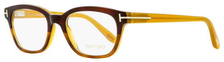 Tom Ford Rectangular Eyeglasses TF5207 050 Red Havana/Opal 49mm FT5207