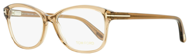 Tom Ford Oval Eyeglasses TF5404 048 Transparent Brown 53mm FT5404
