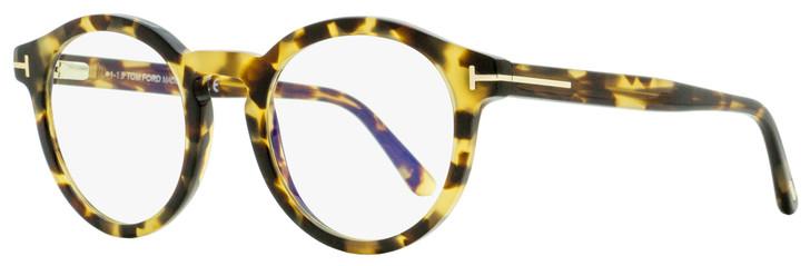 Tom Ford Oval Eyeglasses TF5529B 055 Vintage Havana 50mm FT5529