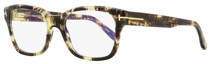 Tom Ford Rectangular Eyeglasses TF5535B 056 Vintage Brown Havana 54mm FT5535
