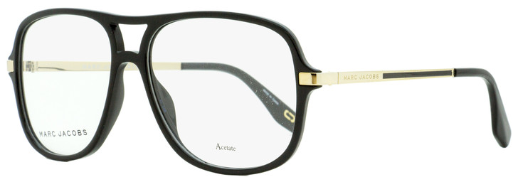 Marc Jacobs Square Eyeglasses Marc 390 807 Black/Gold 57mm