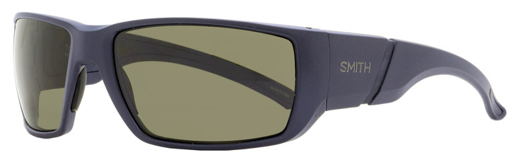 Smith Wrap Sunglasses Transfer FLLL7 Matte Dark Blue Polarized 63mm