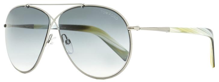 Tom Ford Criss Cross Sunglasses TF374 Eva 15B Ruthenium/Horn 61mm FT0374