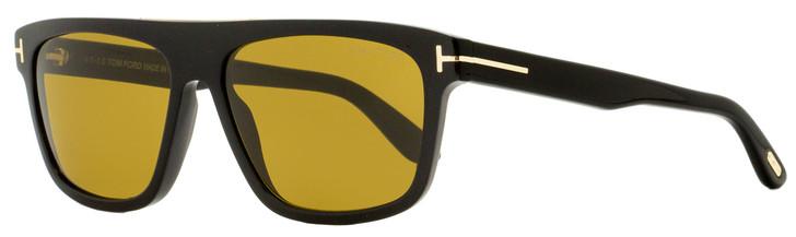 Tom Ford Rectangular Sunglasses TF628 Cecilio-02 01E Black/Gold 57mm FT0628