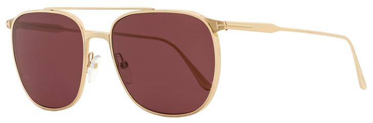 Tom Ford Square Sunglasses TF692 Kip 28S Gold 58mm FT0692