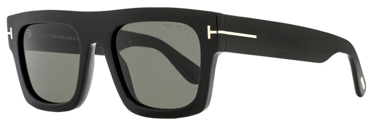 Tom Ford Flat Top Sunglasses TF711 Fausto 01A Black 53mm FT0711