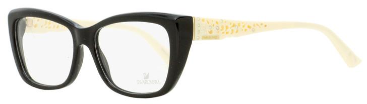 Swarovski Dallas Eyeglasses SK5084 01B Black/Ivory 54mm SW5084