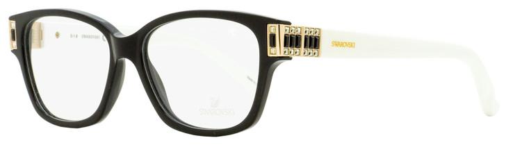 Swarovski Dylan Eyeglasses SK5090 01B Black/Gold/White 52mm SW5090