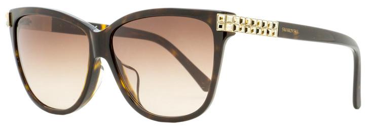 Swarovski Rectangular Sunglasses SK0137F 52F Dark Havana 59mm SW0137F