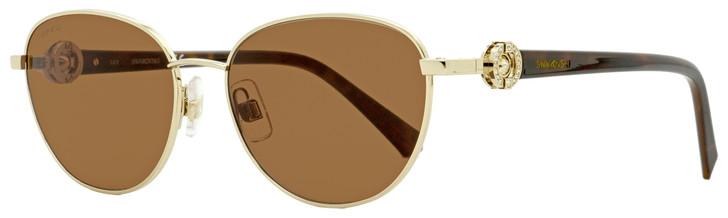 Swarovski Oval Sunglasses SK0205 32E Gold/Havana 55mm SW0205