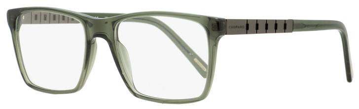 Chopard Grand Prix Eyeglasses VCH161 06S8 Clear Gray-Green/Gunmetal 54mm 161