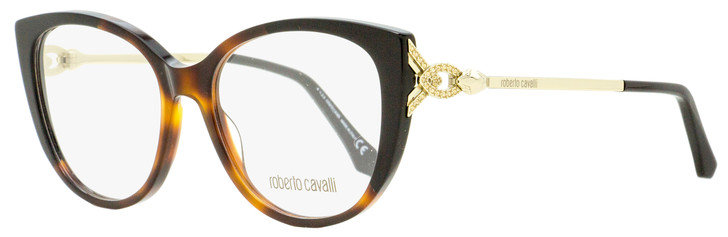 Roberto Cavalli Butterfly Eyeglasses RC5053 Follonica 056 Dark Havana/Gold 53mm 5053