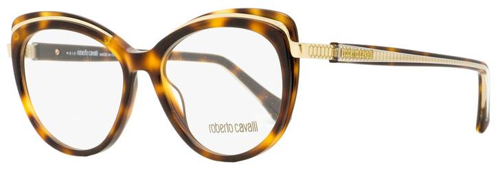 Roberto Cavalli Butterfly Eyeglasses RC5077 Mulazzo 052 Havana/Gold 53mm 5077