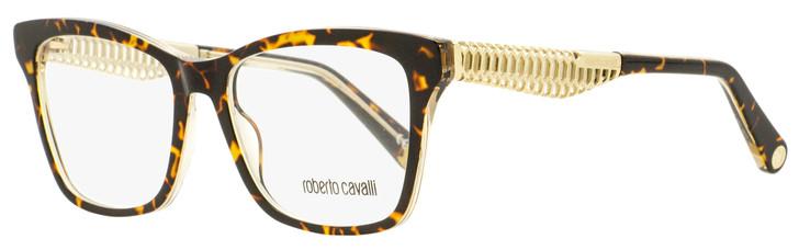 Roberto Cavalli Rectangular Eyeglasses RC5089 056 Dark Havana/Gold 53mm 5089