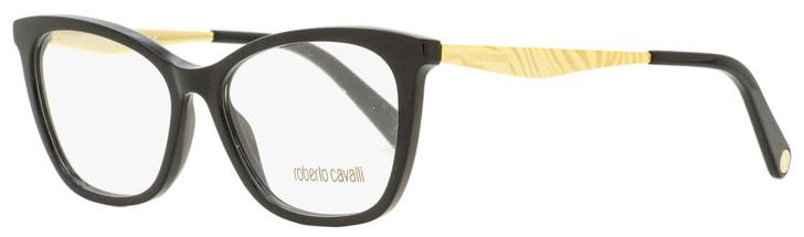 Roberto Cavalli Rectangular Eyeglasses RC5095 001 Black/Gold 54mm 5095