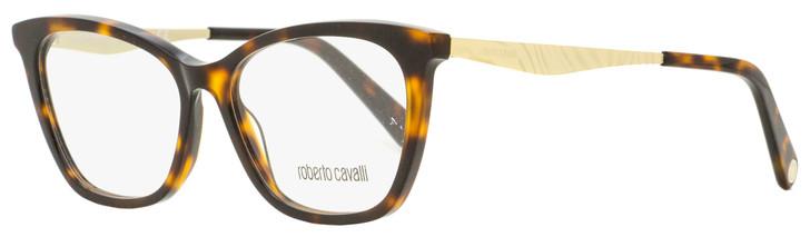 Roberto Cavalli Rectangular Eyeglasses RC5095 052 Havana/Gold 54mm 5095