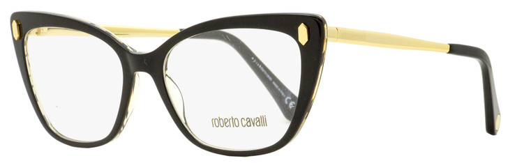 Roberto Cavalli Butterfly Eyeglasses RC5110 005 Black/Gold 52mm 5110