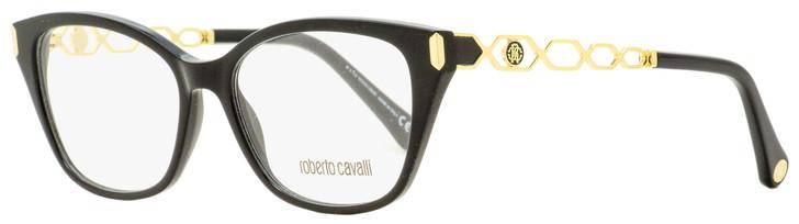 Roberto Cavalli Rectangular Eyeglasses RC5113 001 Black/Gold 52mm 5113