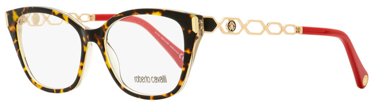 Roberto Cavalli Rectangular Eyeglasses RC5113 056 Gold/Ruby Red 52mm 5113