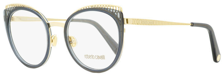 Roberto Cavalli Oval Eyeglasses RC5114 020 Gold/Transparent Gray 53mm 5114