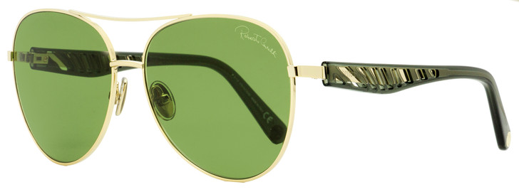 Roberto Cavalli Pilot Sunglasses RC1108 32N Gold/Transparent Gray 61mm 1108