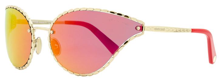 Roberto Cavalli Wrap Sunglasses RC1124 32U Gold/Crimson 71mm 1124