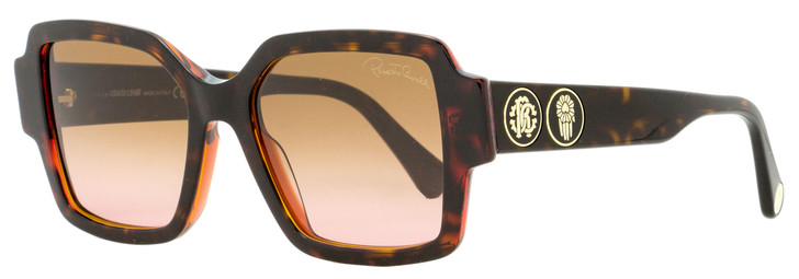 Roberto Cavalli Square Sunglasses RC1130 56F Dark Havana 54mm 1130