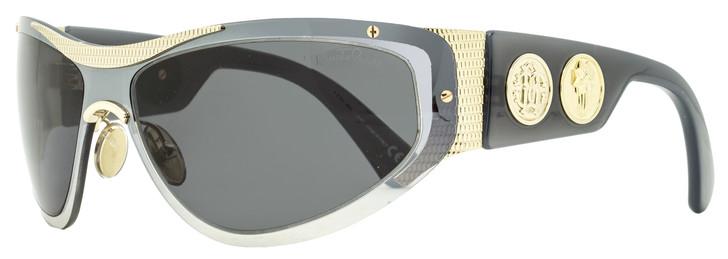 Roberto Cavalli Wrap Sunglasses RC1135 32A Gray/Gold 64mm 1135