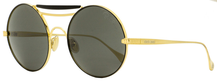 Roberto Cavalli Round Sunglasses RC1137 30A Black/Gold 58mm 1137
