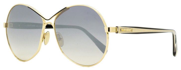 Roberto Cavalli Oval Sunglasses RC1138 32C Gold/Clear/Black 60mm 1138