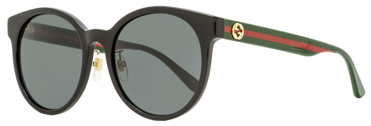 Gucci Oval Sunglasses GG0416SK 002 Black/Green/Red 55mm 0416