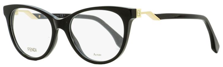 Fendi Oval Eyeglasses FF0201 807 Black/Gold 52mm 201