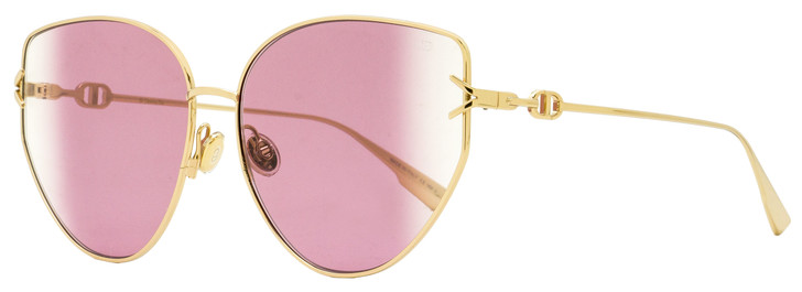 Dior Butterfly Sunglasses Gipsy 1 0009R Gold 62mm
