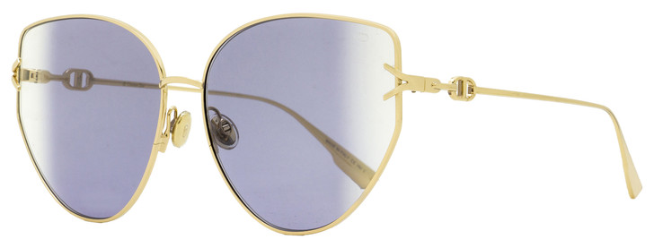 Dior Butterfly Sunglasses Gipsy 1 000SO Gold 62mm