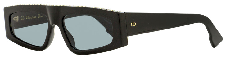 Dior Rectangular Sunglasses Power 7C52K Black w/ Crystals 55mm