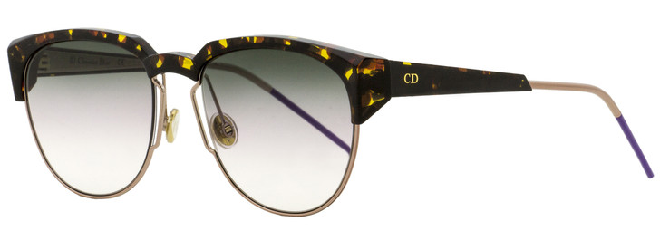 Dior Faceted Sunglasses Spectral 01KSO Havana/Gold/Violet 53mm