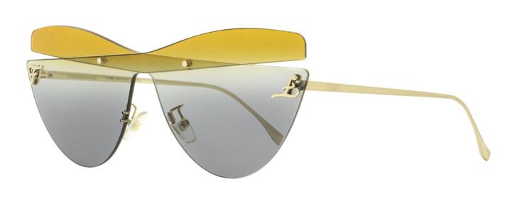 Fendi Overlap Sunglasses FF0400S XYO9O Gold 99mm 0400