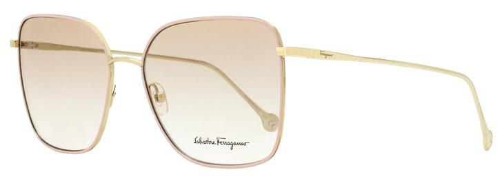 Salvatore Ferragamo Rectangular Eyeglasses SF2176 717 Gold/Pink 57mm 2176
