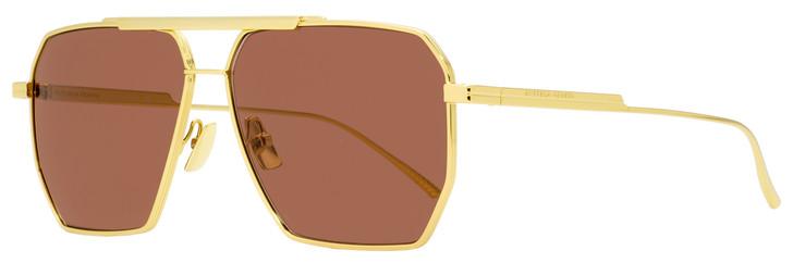 Bottega Veneta Square Sunglasses BV1012S 005 Gold 60mm 1012
