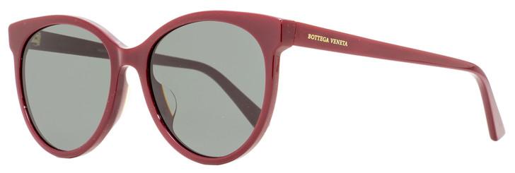 Bottega Veneta Oval Sunglasses BV1022SK 003 Burgundy 55mm 1022