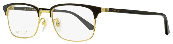 Gucci Rectangular Eyeglasses GG0131O 001 Gold/Black 53mm 131