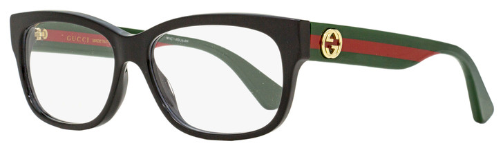 Gucci Rectangular Eyeglasses GG0278O 011 Black/Green/Red 55mm 278