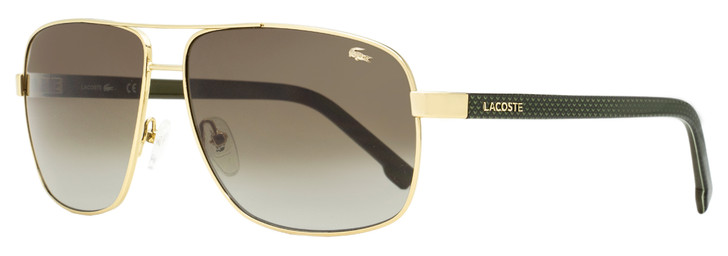 Lacoste Rectangular Sunglasses L162S 714 Gold/Sage 61mm 162