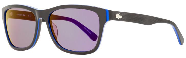 Lacoste Rectangular Sunglasses L683S 006 Black/Blue 55mm 683