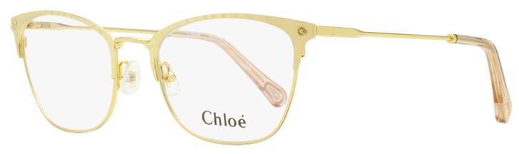Chloe Rectangular Eyeglasses CE2153 717 Yellow Gold 52mm 2153