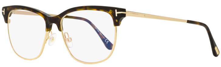 Tom Ford Blue Block Eyeglasses TF5546B 052 Havana/Gold 54mm FT5546